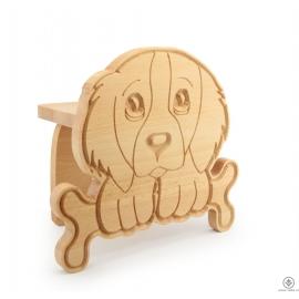 Dřevěný stojan Pes