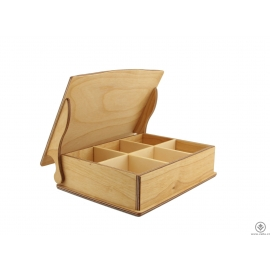 Dřevěná krabička na čaj nebo šperky 3x2 - olej