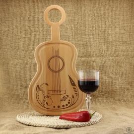 Kuchyňské prkénko Kytara - Zahradní slavnost Classic