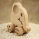 Dřevěný sloník na kolečkách