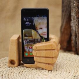 Dřevěný stojánek na mobil Like