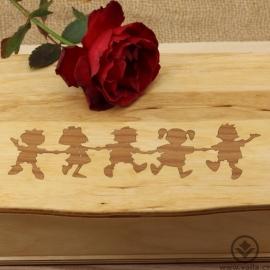 Dřevěná krabička na čaj Tora - děti