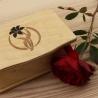 Dřevěná krabička Mino - květina