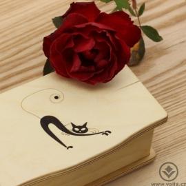 Dřevěná krabička Mino - Jsi kočka!