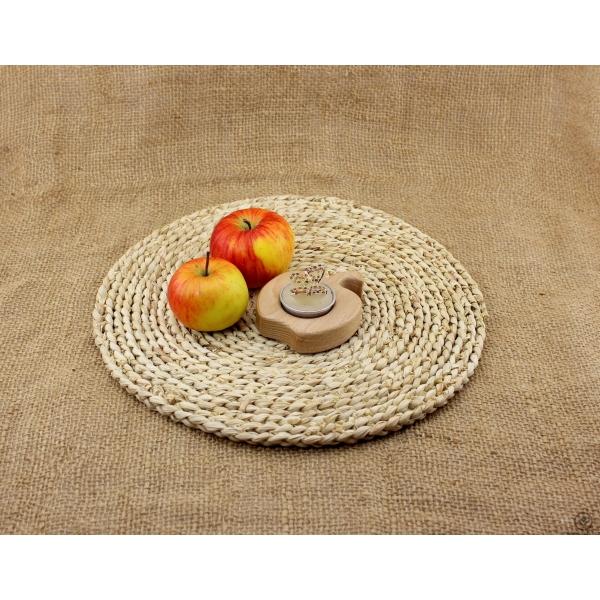 Dřevěný svícen - Jablíčko
