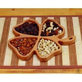 Dřevěná miska - Čtyřlístek