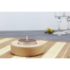 Dřevěný svícen - kulatý
