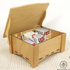 Dřevěná krabička na čaj Tina