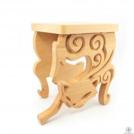 Dřevěný stojan Kočka