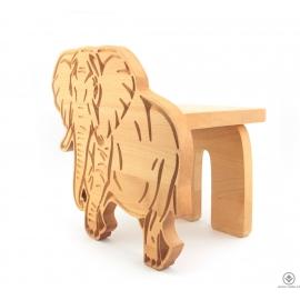 Dřevěný stojan Slon